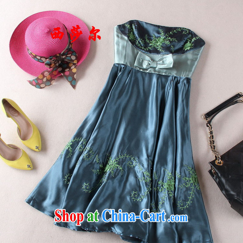 2015 butterfly end damask wrapped chest dresses Evening Dress evening dress high waist embroidered dresses skirts picture color 8