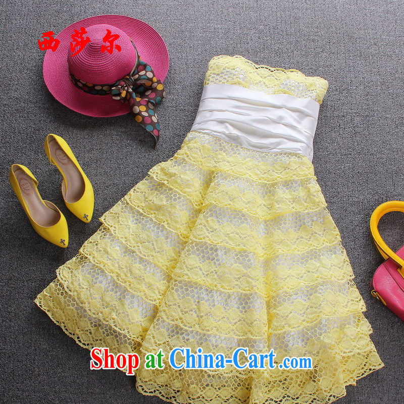 2015 the butterfly knot dress skirts beauty dresses sexy wrapped chest skirt evening reception ceremony dress dresses yellow 8