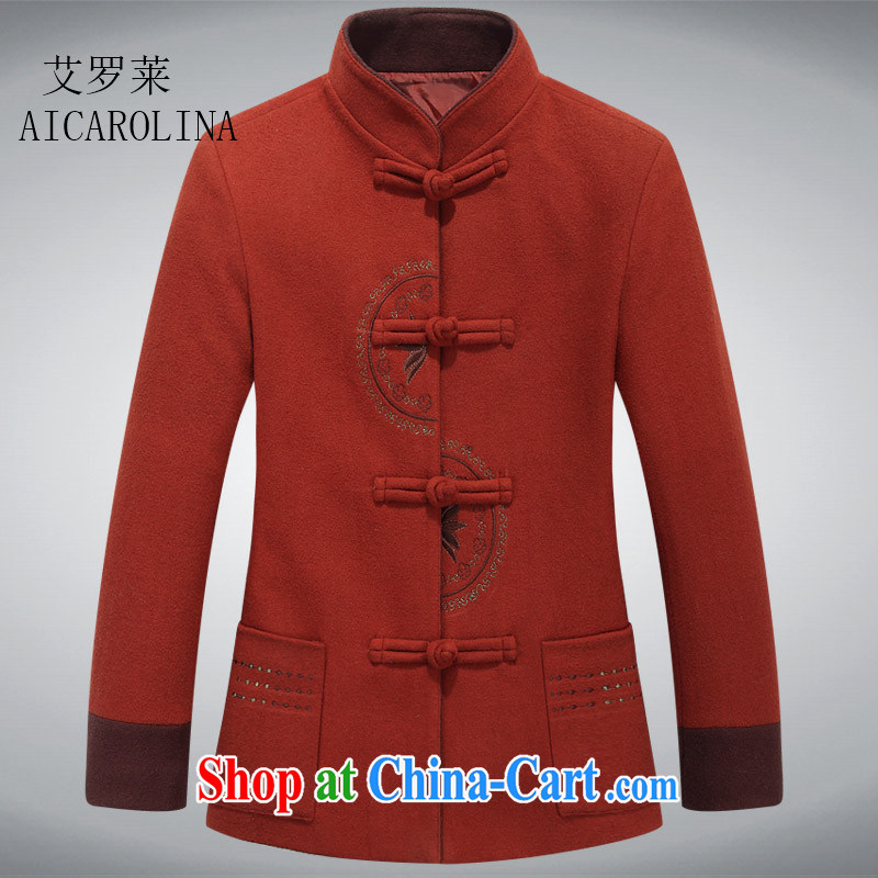 The Honorable Henry TANG, Ms. loaded spring new-Tie long-sleeved clothes? The Tang jackets red-orange XXXL