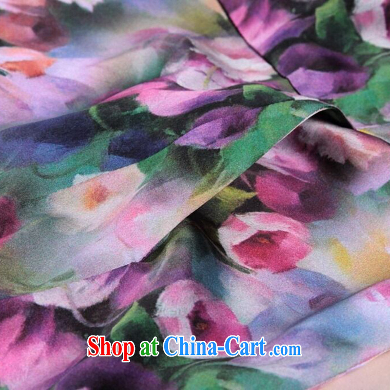 Dan smoke-free summer, female cool the OSCE with AIDS, silk short-sleeved video thin dresses retro suit sauna Silk Cheongsam dress such as the color 2 XL, Bin Laden smoke, shopping on the Internet