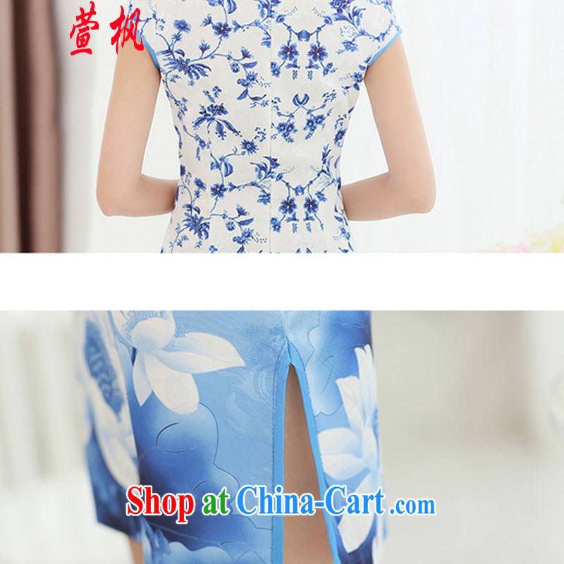 XUAN FENG 2015 summer new Korean beauty, short-sleeved fine stamp stylish retro cheongsam dress picture color XXL, Xuan Feng (xuanfeng), and, on-line shopping
