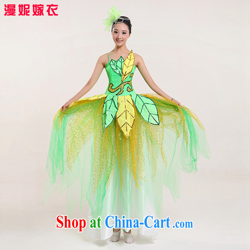 Spring new opening dance swing skirt Spanish dance skirt long performances, serving modern dance clothing stage performing arts Fashion Show clothing wholesale picture color XXL