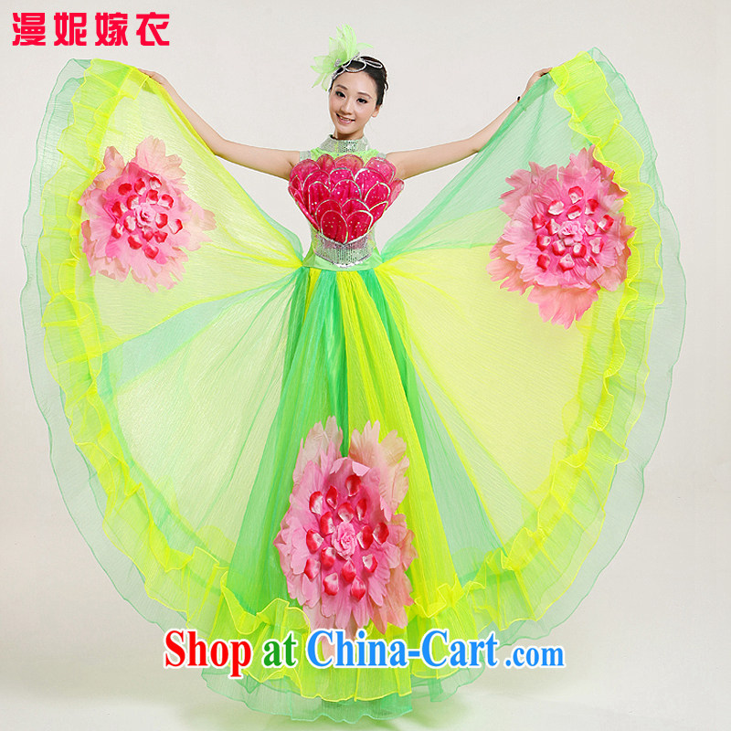 Ballroom Dance large dresses new waltz Tango the dance competition costumes national the choir uniforms girls skirts atmospheric opening dance clothing picture color XXL