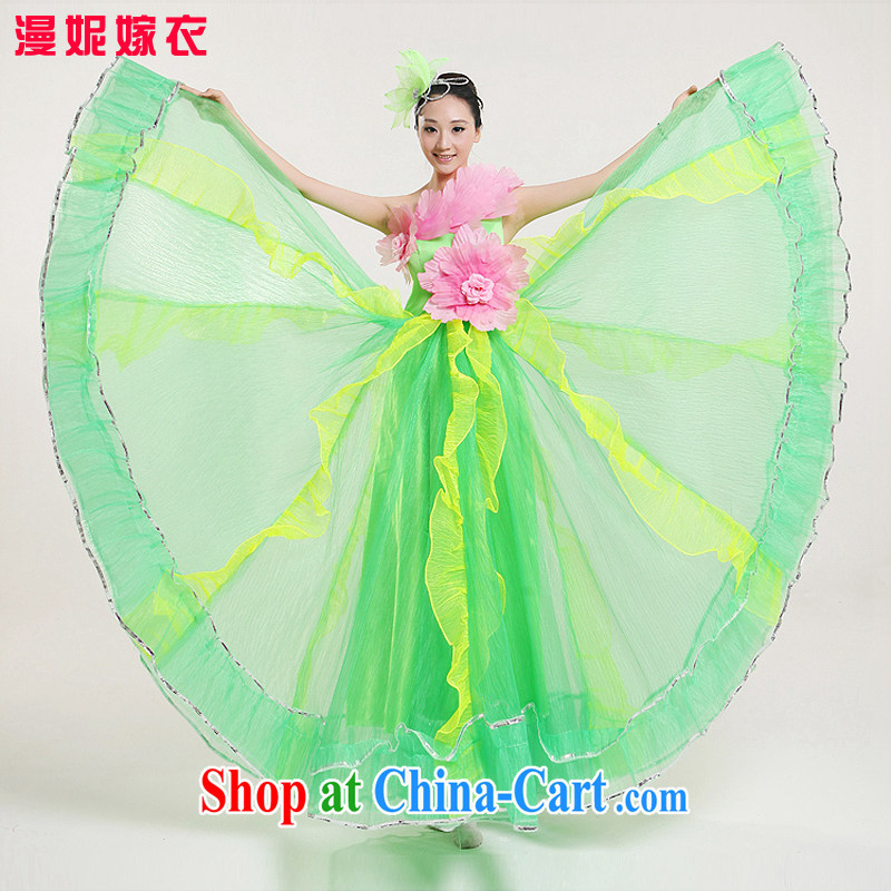 The skirt dance clothing female performances serving long skirt choir uniforms opening classical costume new opening dance serving the concert dress clothes dance show Picture Color XXL