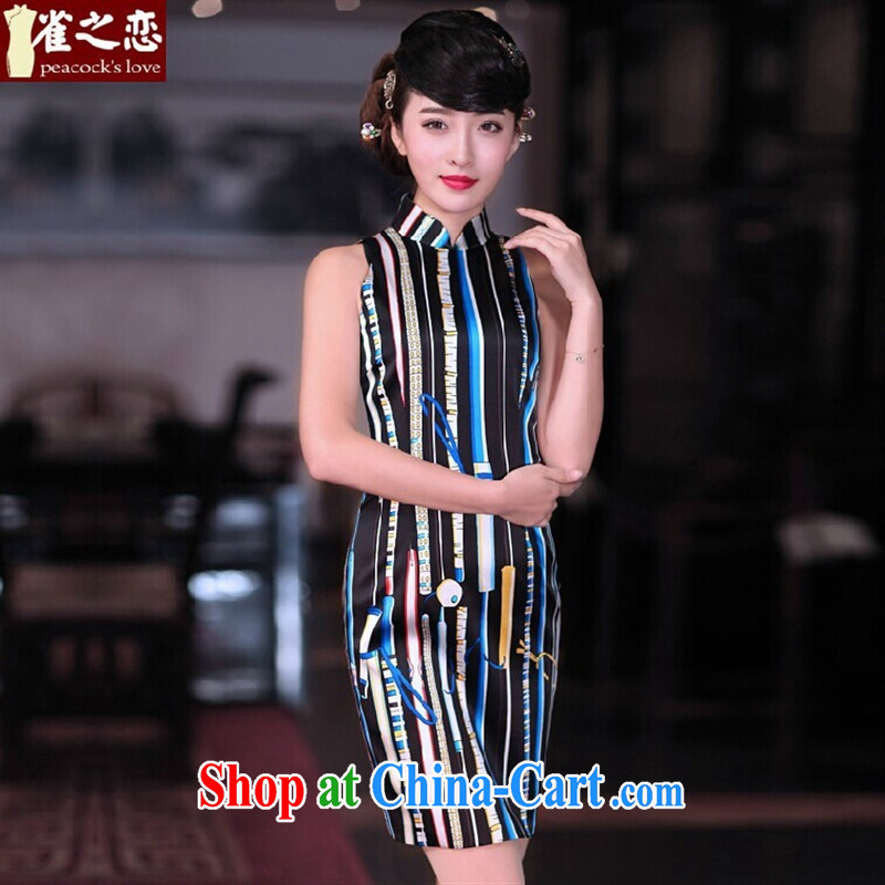 Health concerns women _ birds of light, said ? 2015 spring new OL stylish elegant beauty Silk Cheongsam QD 675 figure XXL