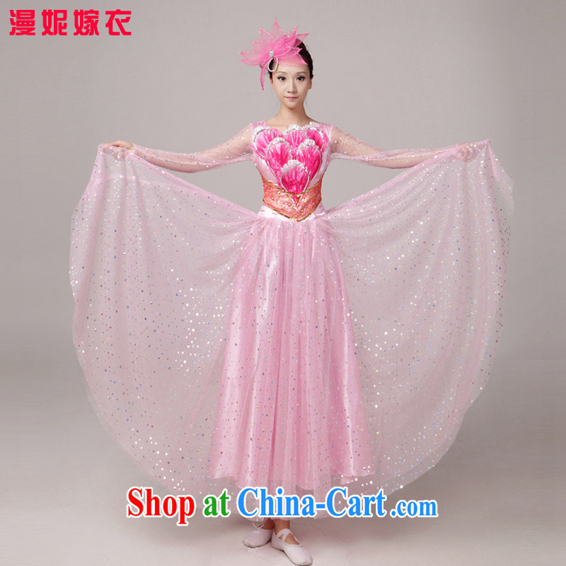 New cultivating large skirt large choir performances clothing dance clothing large skirt dance clothing choral service long skirt picture color XXL