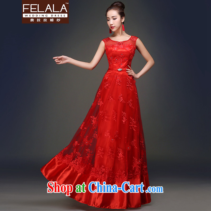 Ferrara 2015 spring and summer New Classic sweet round-collar double-shoulder with embroidery lace dress XL Suzhou shipping