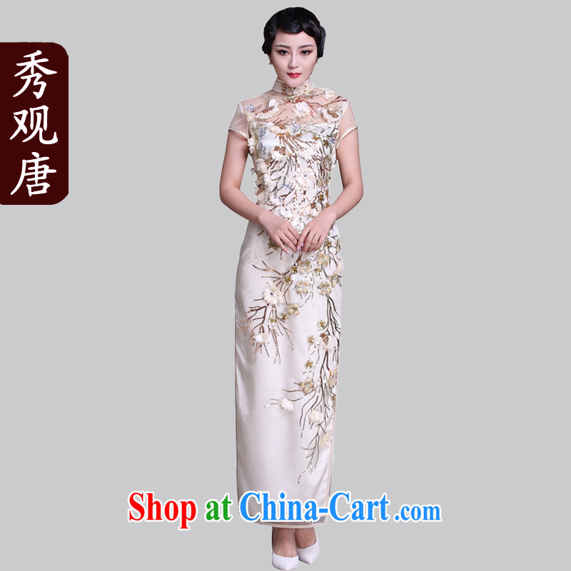 Cyd Ho Kwun Tong Yu-ling sponsors high quality goods/2015 classic dress/long high on the truck spring women evening dress G 92,118 white XXXL