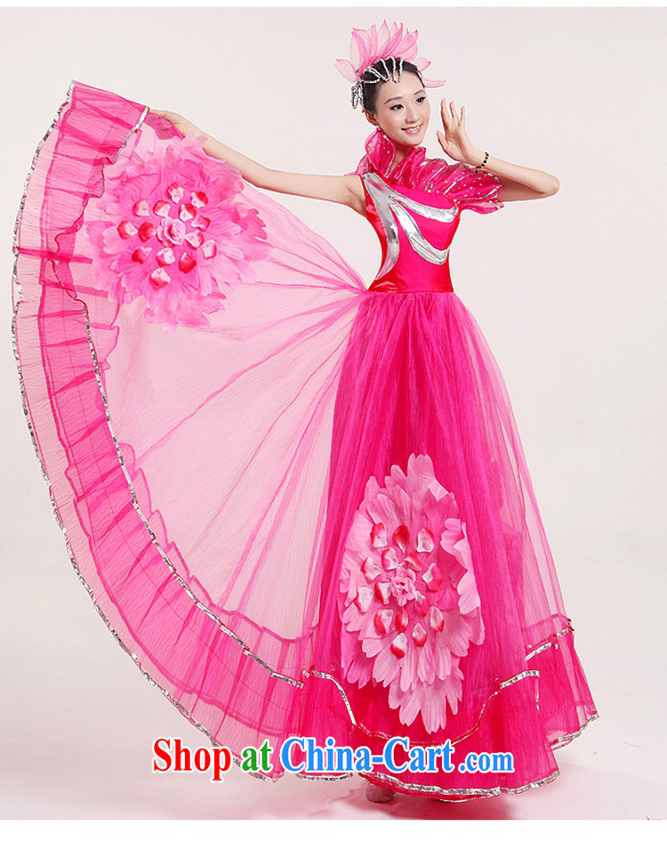 Square dance classical dance costumes modern large skirt opening dance for dance clothing dance performances by women serving classical dance clothing modern costume three-dimensional flowers peach XXL pictures, price, brand platters! Elections are good character, the national distribution, so why buy now enjoy more preferential! Health