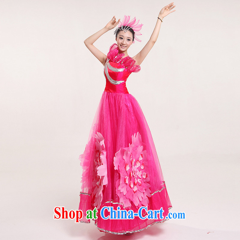 Square dance classical dance costumes modern large skirt opening dance for dance clothing dance performances by women serving classical dance clothing modern costume three-dimensional flowers peach XXL, diffuse Connie married clothing, and shopping on the