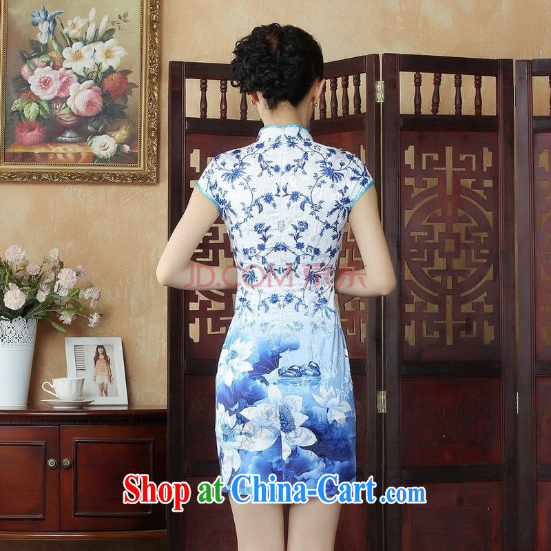 Joseph cotton robes, Ms. Tang is improved summer dresses up for a tight budget stamp beauty dress dresses D 0249 color XXL