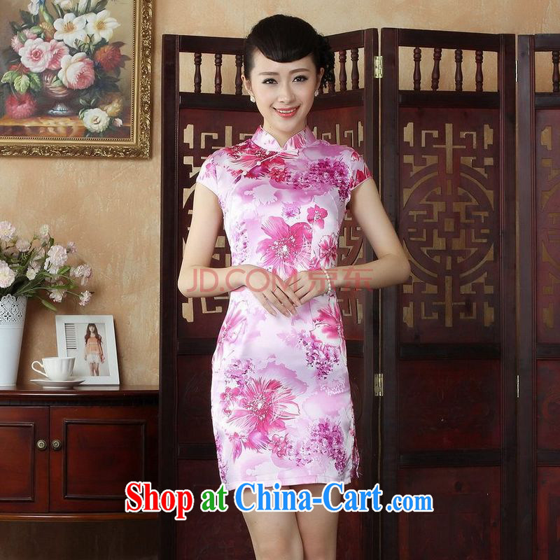 Joseph cotton robes, Ms. Tang is improved summer dresses, for cultivating dress dresses pink XXL