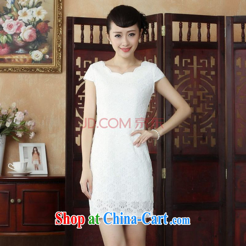 Joseph's cotton Lady Jane, Jacob embroidery cheongsam improved cheongsam dress summer exclusive fashion beauty dresses D paragraph 0241 XXL