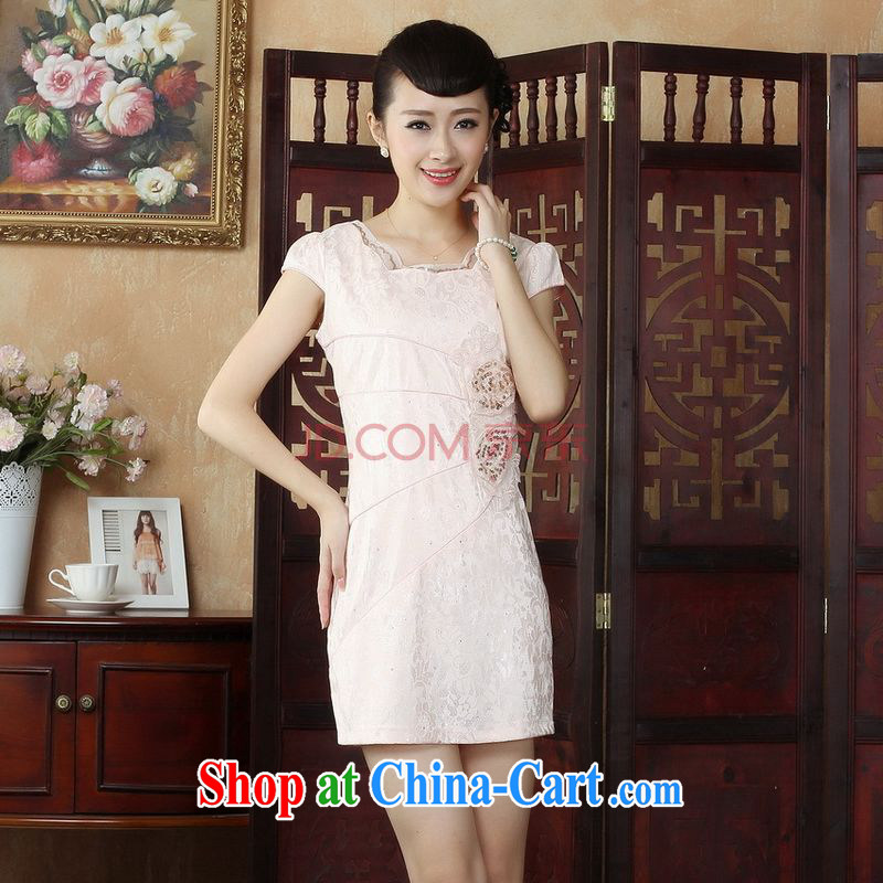 Uh, Ms. JOSEPH regal Tang with Chinese style modern improved cheongsam dress dress dress D paragraph 0245 XXL