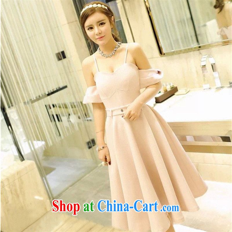 Spring 2015 new Korean female sweet aura sense of pure color beauty wrapped chest dress dresses I 711 mint color M