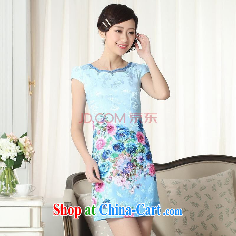 Shanghai, optimize new summer elegance short cheongsam with improved graphics thin short cheongsam picture color 2 XL, Shanghai, optimize, and shopping on the Internet