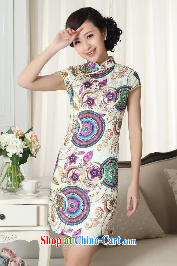 Shanghai, optimize purchase lady stylish jacquard cotton cultivating short cheongsam dress new Chinese qipao gown picture color 2 XL pictures, price, brand platters! Elections are good character, the national distribution, so why buy now enjoy more preferential! Health