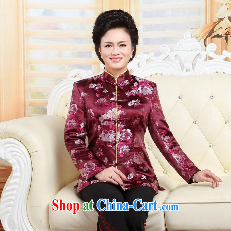 Joseph cotton, older women with short T-shirt the Life wedding stage clothing - A Jiangxian red 3 XL