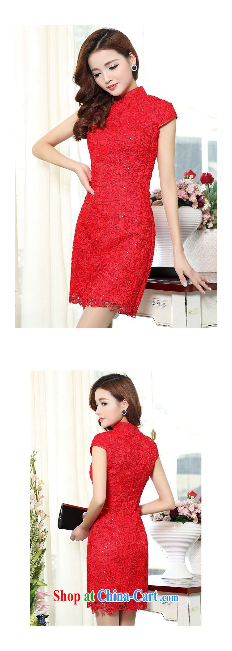 luxury of 2015 New Red lace bridal wedding dresses bows clothes and stylish high-end dresses retro crowsfoot toast wedding long gown beauty red XXXL pictures, price, brand platters! Elections are good character, the national distribution, so why buy now enjoy more preferential! Health