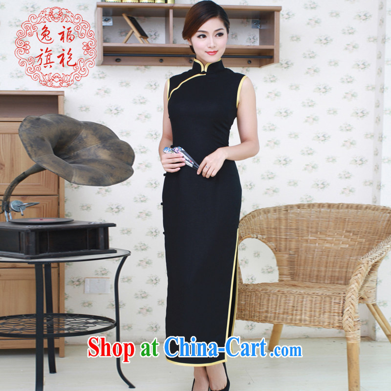 once and for all, black cotton robes sepia colored rimmed daily outfit long Advanced Custom Black tailored 10 day shipping