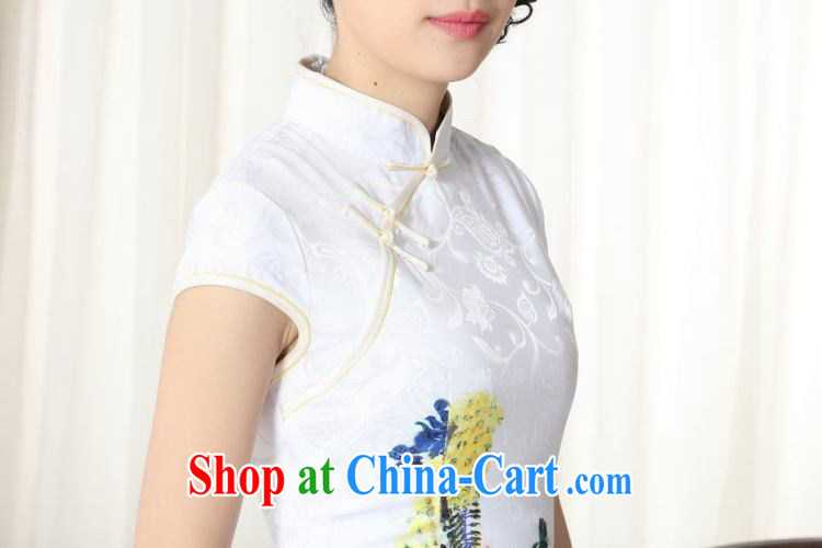 And Jing Ge new summer elegance Chinese qipao Chinese graphics thin short cheongsam picture color 2 XL pictures, price, brand platters! Elections are good character, the national distribution, so why buy now enjoy more preferential! Health