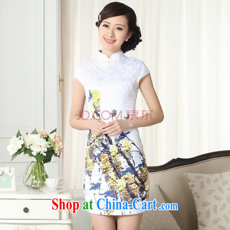And Jing Ge new summer elegance Chinese qipao Chinese graphics thin short cheongsam picture color 2 XL, Jing Ge, shopping on the Internet