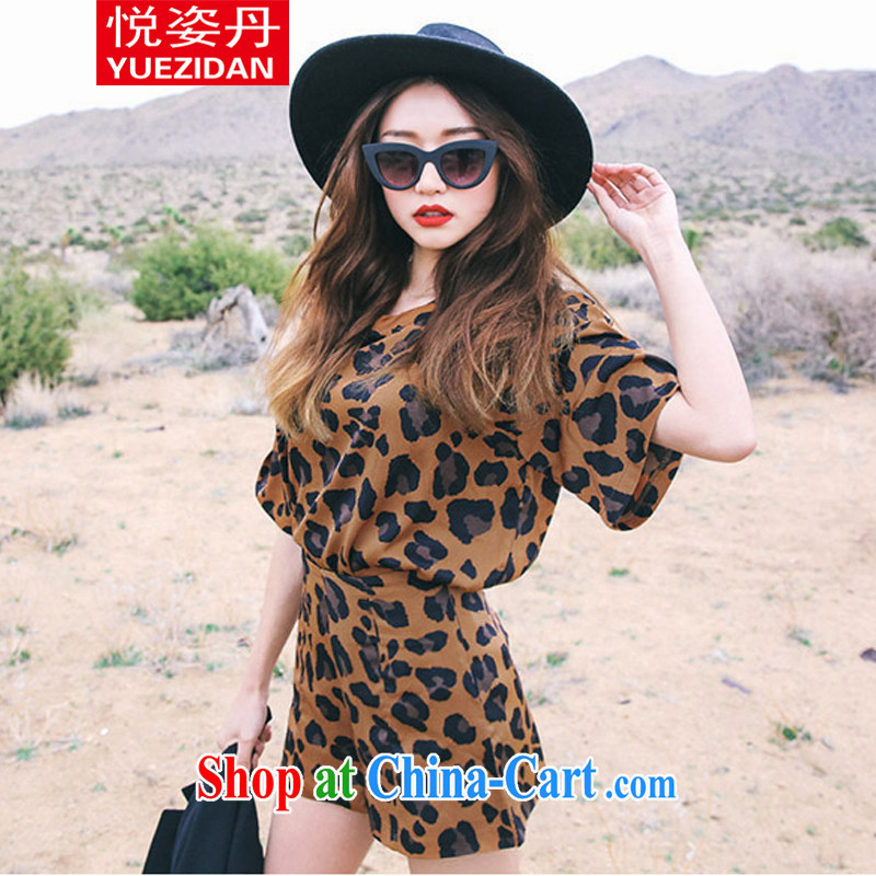 Yue Chi Dan 2015 new female wild sexy Leopard package picture color M