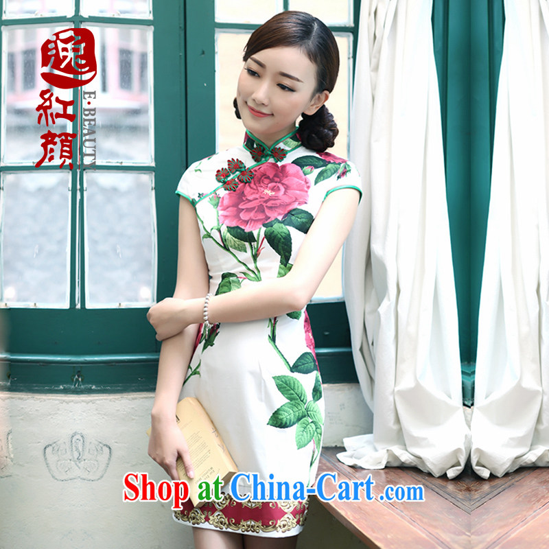 proverbial hero once and for all and I should be grateful if you would celebrate new spring and summer dresses day dresses stylish improved national wind cheongsam dress white 2XL