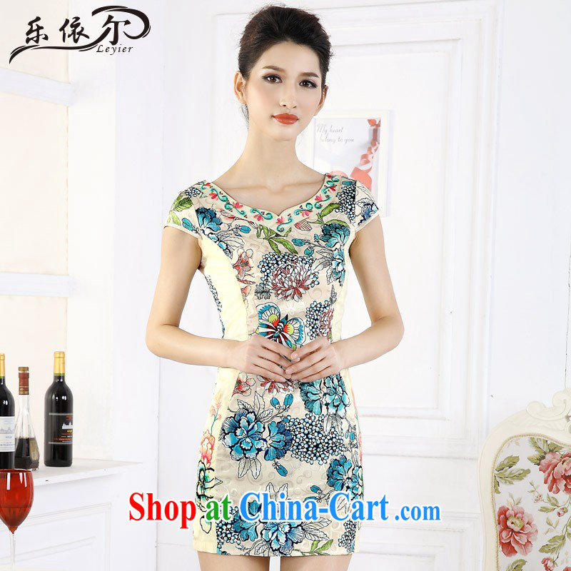 And, in accordance with short cheongsam dress girls retro stamp improved embroidery flower girl dresses daily LYE 66,610 green L