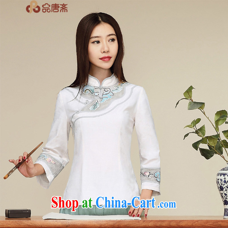 Mr Henry Tang, Id al-Fitr spring new 2015 National wind cotton the original improved Chinese Chinese T-shirt girl original Ma color L