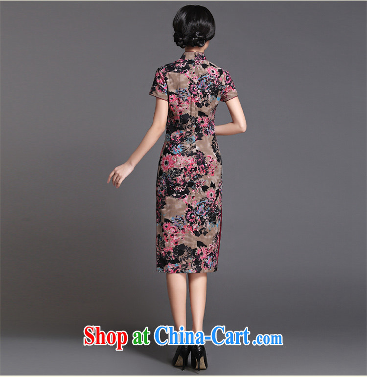 China classic 2015 summer, long Chinese qipao dress improved retro style, Ms. Yau Ma Tei cotton cheongsam floral XXXL pictures, price, brand platters! Elections are good character, the national distribution, so why buy now enjoy more preferential! Health