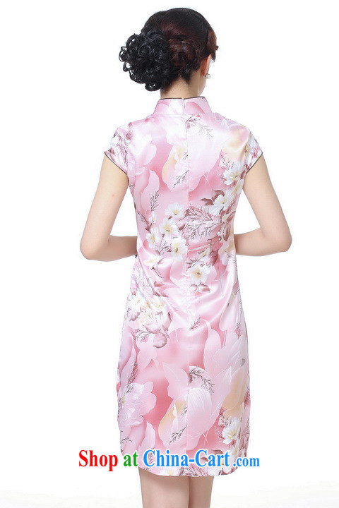 Dan smoke female summer, new Chinese qipao Chinese improved, for retro beauty is a hard stamp short cheongsam pink 2 XL pictures, price, brand platters! Elections are good character, the national distribution, so why buy now enjoy more preferential! Health