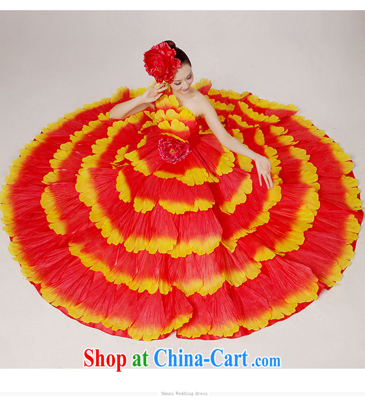 Standard atmospheric opening dance serving the dance clothing Spanish dance skirt long skirt dance clothing female classical dance theater service color Large skirt new performing arts clothing modern dance green XXL pictures, price, brand platters! Elections are good character, the national distribution, so why buy now enjoy more preferential! Health
