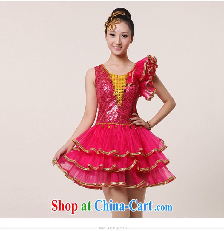 2015 new, modern dance Latin Dance Show Dance clothing Girls show their dance costumes yangko dance partner dance clothing blades as well as modern dance costume yellow XXL pictures, price, brand platters! Elections are good character, the national distribution, so why buy now enjoy more preferential! Health