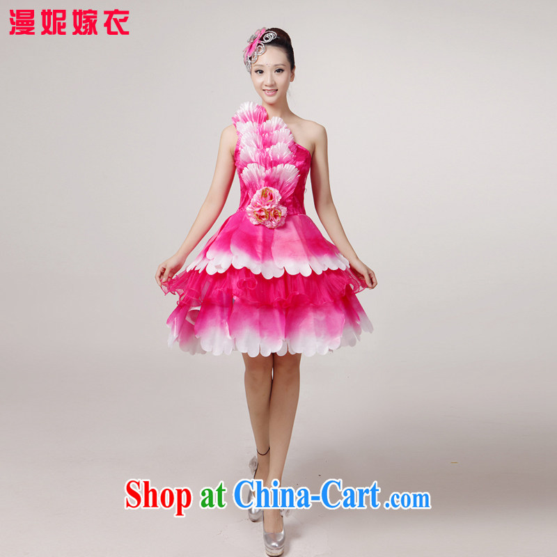 New short skirt opening accompanied by dancing girls service performance service spares choral singing and dancing dance classic modern dance square Dance Dance Performances serving modern dance night service store serving pink XXL