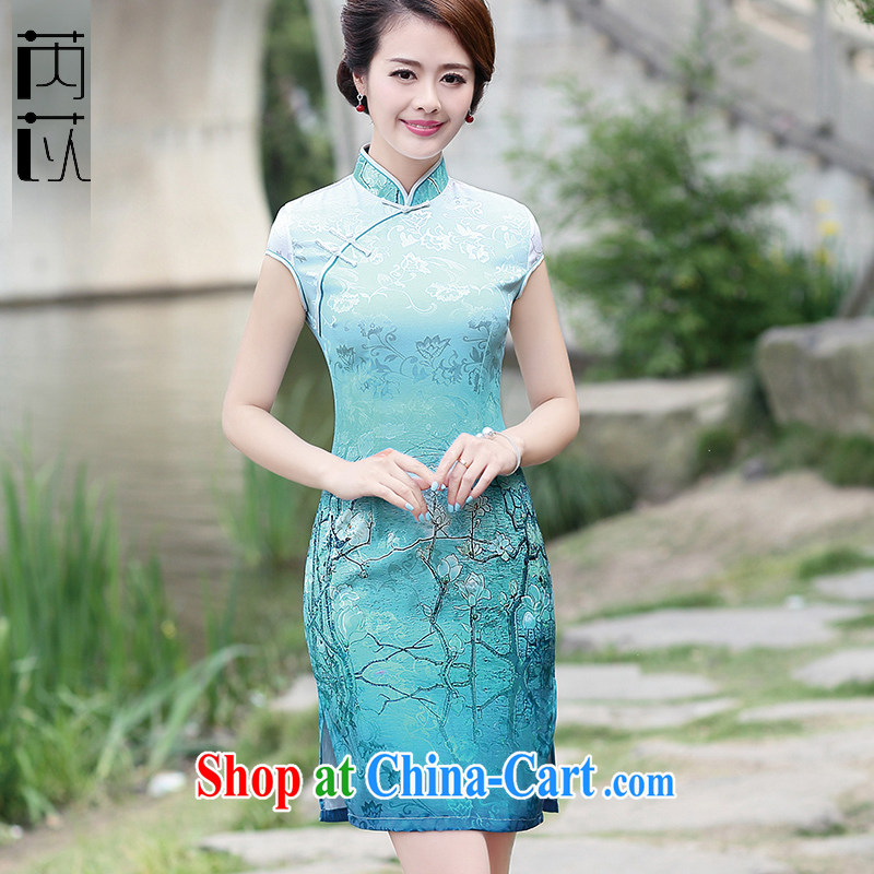Rawnie close by summer 2015 with improved cheongsam Stylish retro-day cheongsam dress beauty style dresses container take XXL