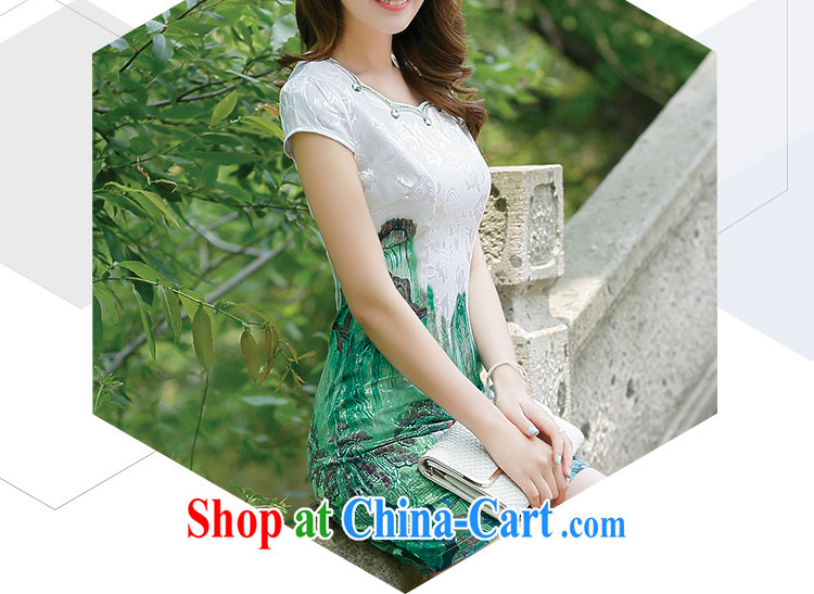 Rawnie closely affected summer short cheongsam stylish improved daily cheongsam dress, graphics thin and elegant and noble short flag gold beauty XXL pictures, price, brand platters! Elections are good character, the national distribution, so why buy now enjoy more preferential! Health