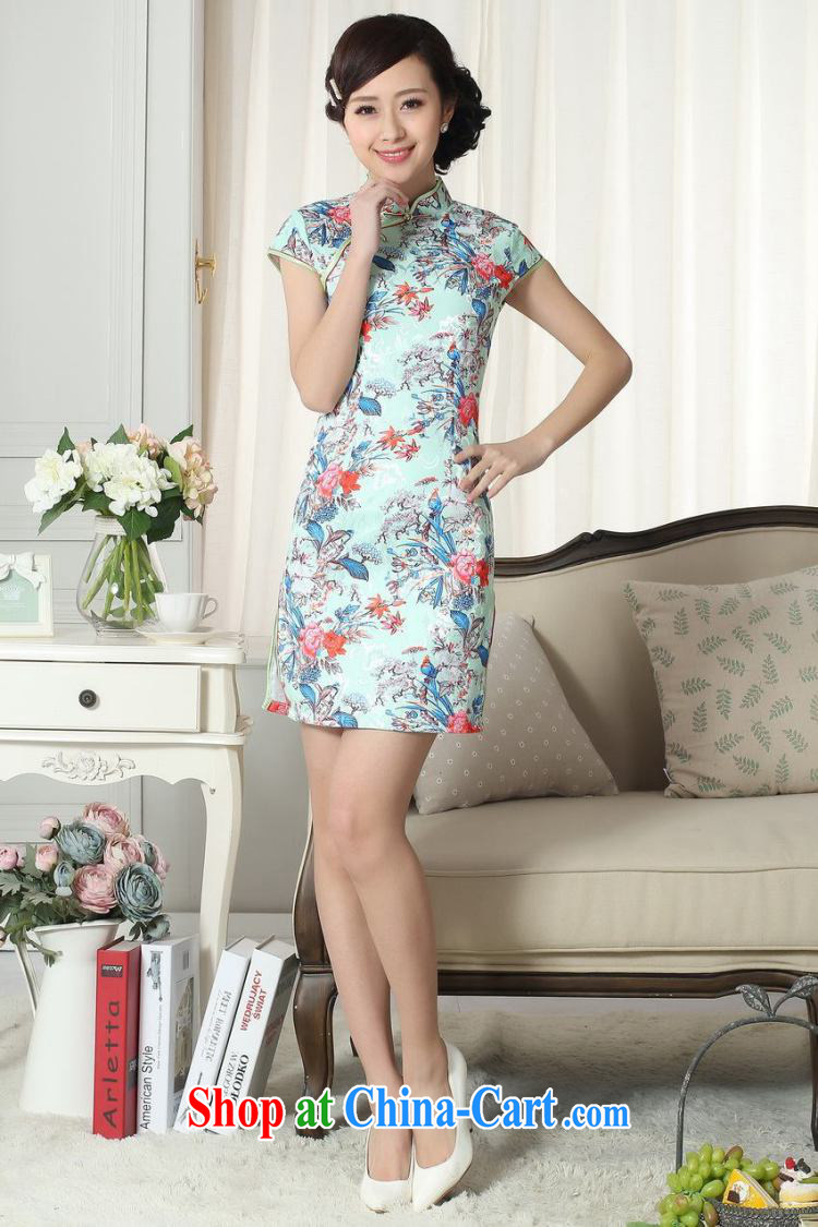 Joseph's new summer elegance Chinese qipao Chinese graphics thin short cheongsam picture color XXL pictures, price, brand platters! Elections are good character, the national distribution, so why buy now enjoy more preferential! Health
