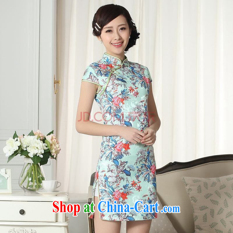Joseph cotton new summer elegance Chinese qipao Chinese graphics thin short cheongsam picture color XXL, Joseph cotton, shopping on the Internet