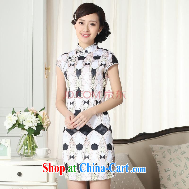 Joseph cotton new summer elegance Chinese qipao Chinese graphics thin short cheongsam picture color XXL
