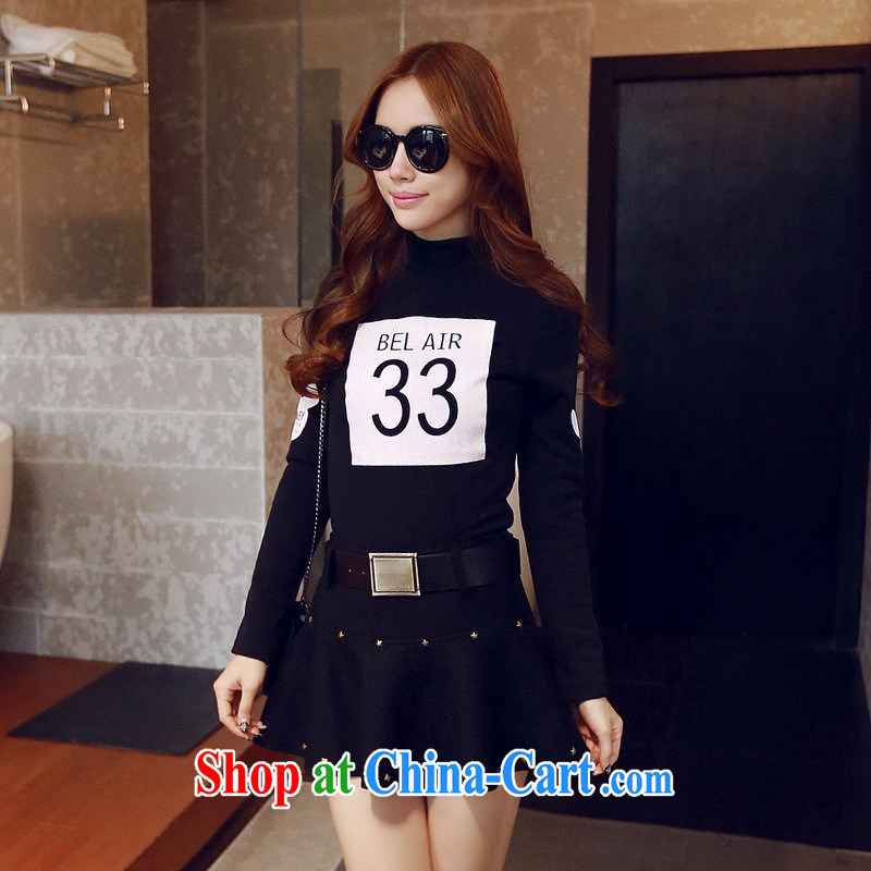 Qin Qing store 2015 spring and summer new original female American and European wind good texture beauty 100 stamp duty on the lint-free cloth T pension black L