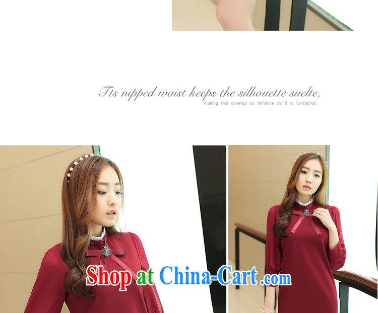 yak-a suite 201 spring new long-sleeved qipao dresses lady sweet aura light cooked female elegant beauty black XL pictures, price, brand platters! Elections are good character, the national distribution, so why buy now enjoy more preferential! Health