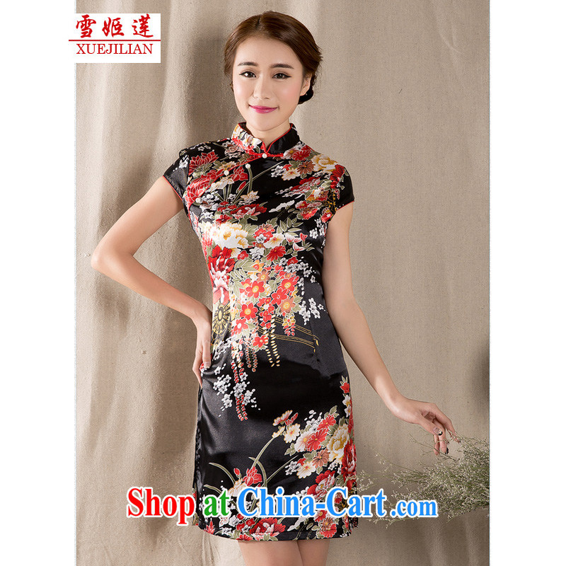 Hsueh-Chi Lin Nunnery new spring and summer with a short-sleeved Chinese qipao refined antique China wind girls dresses #1227 fancy XL