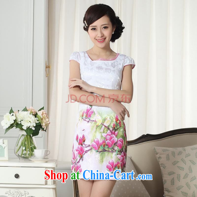 The broadband new summer elegance short cheongsam with improved graphics thin short cheongsam picture color 2 XL, picking-frequency, shopping on the Internet