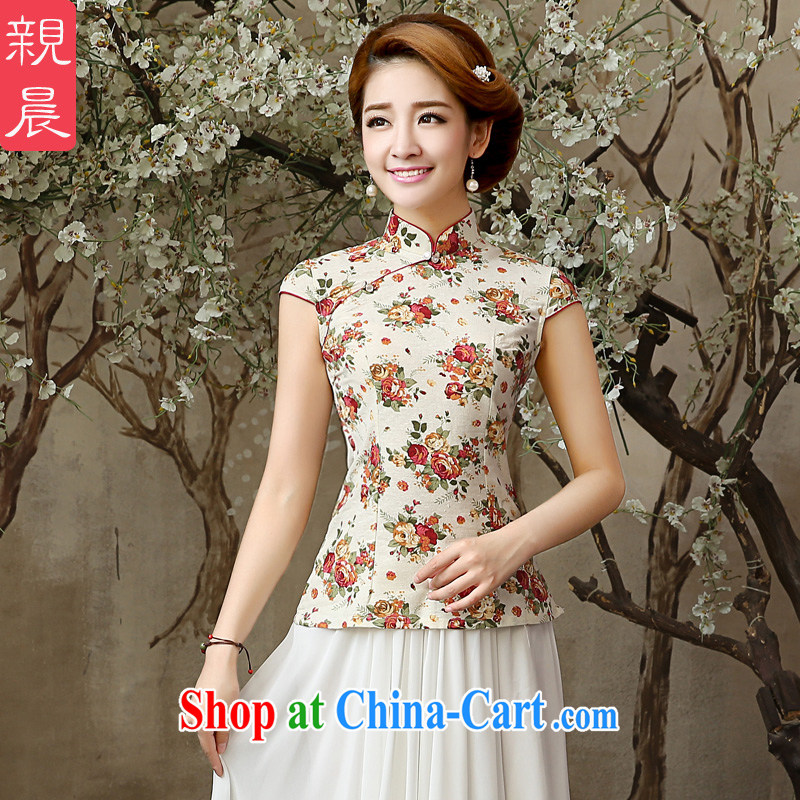 The pro-am 2015 as soon as possible new summer daily linen clothes stylish Ethnic Wind antique dresses beauty T-shirt T-shirt 2XL