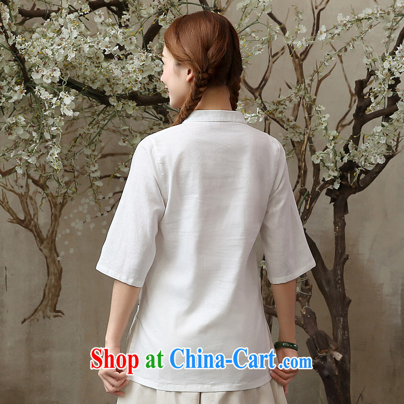 pro-am 2015 New Spring Summer Day retro improved stylish ethnic wind short cotton linen dresses Yau Ma Tei T-shirt T-shirt XL, the pro-am, shopping on the Internet
