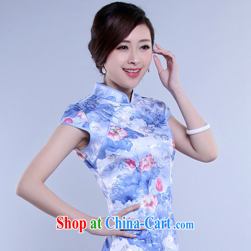 Video thin sweet female daily outfit skirt summer stylish sexy retro beauty elegant qipao dresses XL