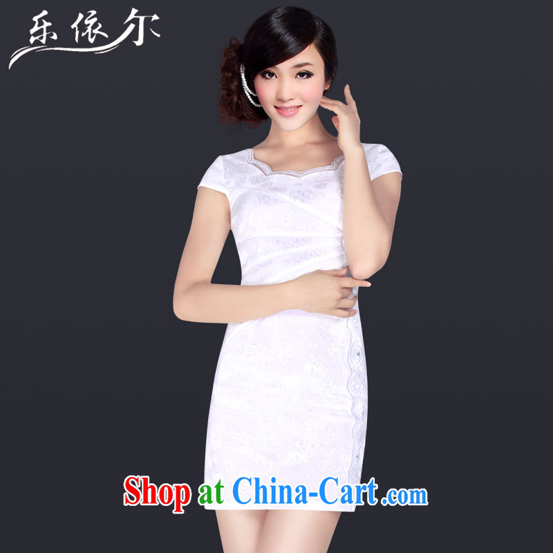 And, according to Mr Ronald ARCULLI female new stylish dresses skirts daily retro elegant personalized beauty cheongsam dress female LYE 1338 white L