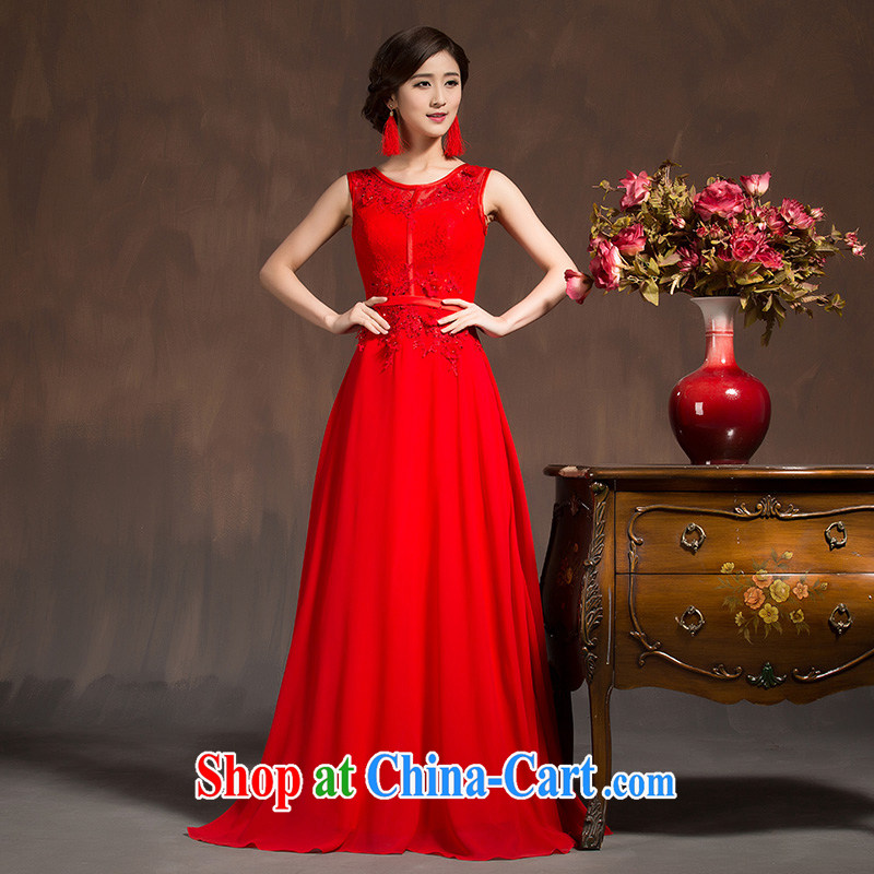 2015 autumn and winter cheongsam, Chinese Dress bride toast wedding service wedding dresses retro Length Spring, red XL code