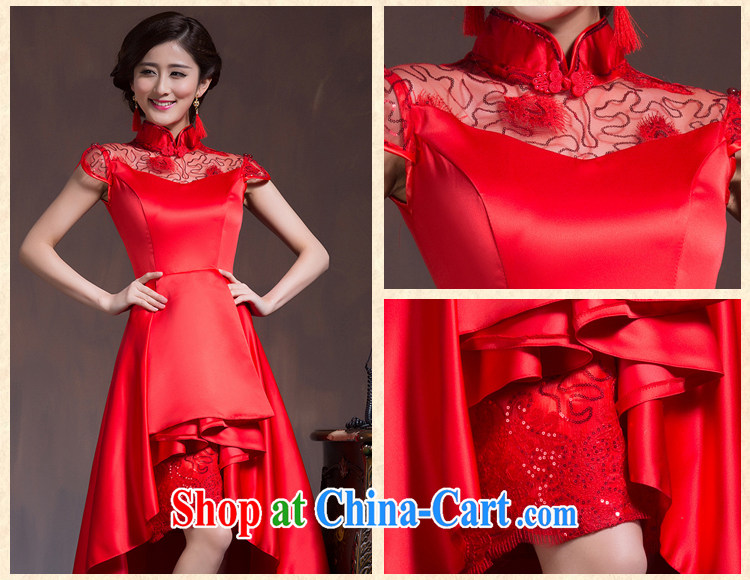 Chinese wedding dresses short-sleeved high-waist bridal wedding dresses Red Large, pregnant women embroidery toast serving spring and summer red XL code pictures, price, brand platters! Elections are good character, the national distribution, so why buy now enjoy more preferential! Health